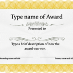 Blank Certificate Templates Free Download | Awards Intended For Blank Certificate Of Achievement Template