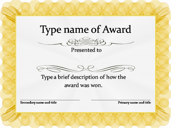 Blank Certificate Templates Free Download   Awards Throughout Free Printable Certificate Of Achievement Template