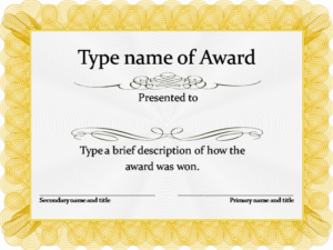 Blank Certificate Templates Free Download | Awards within Fresh Template For Certificate Of Award