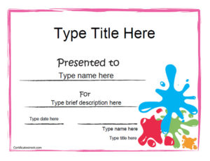 Blank Certificates – Art Award Certificate intended for Quality Art Award Certificate Template