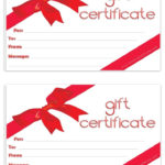 Blank Gift Certificate | Free Gift Certificate Template With Holiday Gift Certificate Template Free 10 Designs