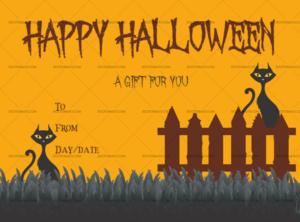 Blank Halloween Certificate Templates – Templates For in Fresh Halloween Gift Certificate Template Free