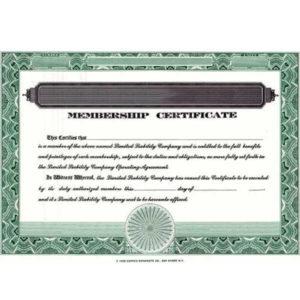 Blank Llc Membership Certificates | Corpex (Pack Of 20) intended for Llc Membership Certificate Template