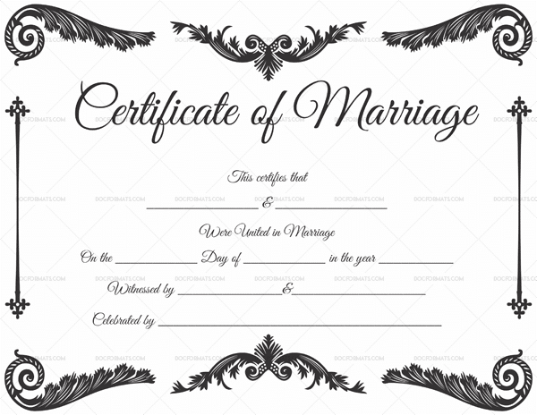 Blank Marriage Certificate (Pdf & Word) throughout Best Blank Marriage Certificate Template