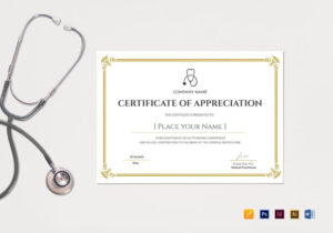Blank Medical Appreciation Certificate Template intended for Table Tennis Certificate Templates Free 10 Designs