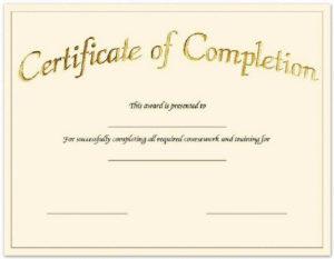 Blank-Printable-Certificate-Of-Achievement   Certificate Of regarding New Certificate Of Completion Templates Editable