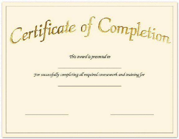 Blank-Printable-Certificate-Of-Achievement | Certificate Of regarding New Certificate Of Completion Templates Editable