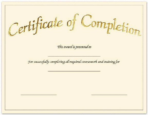 Blank-Printable-Certificate-Of-Achievement | Certificate Of within Completion Certificate Editable