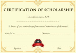Blank Scholarship Certificate Template | Scholarships inside Fresh Scholarship Certificate Template