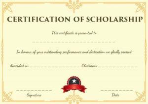 Blank Scholarship Certificate Template | Scholarships throughout Fresh Scholarship Certificate Template