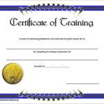 Blank Training Certificate Template , Free Training Within Template For Training Certificate