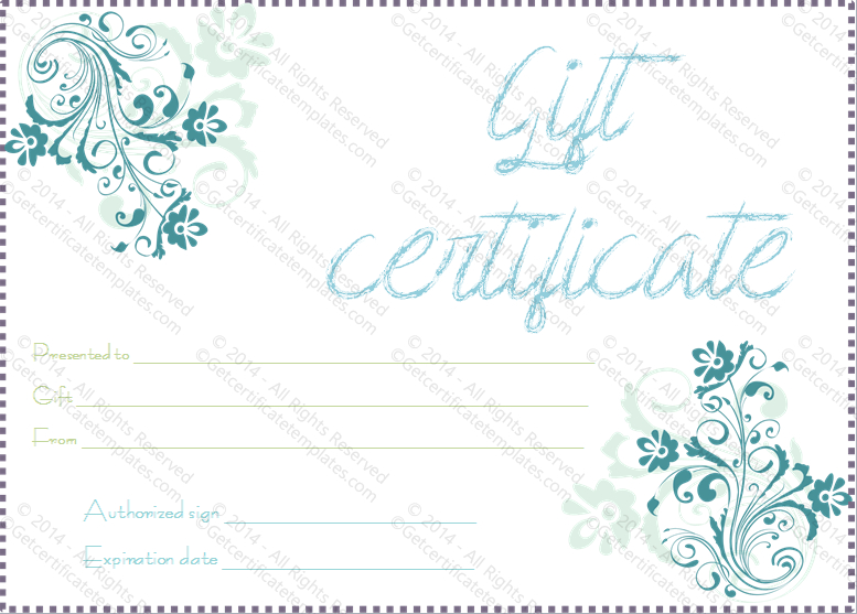 Blueezy Gift Certificate Template - For Word with regard to Baby Shower Gift Certificate Template