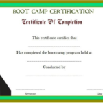 Boot Camp Certificate Template (5) | Professional Templates With Fresh Boot Camp Certificate Template