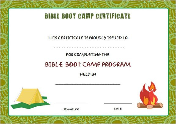 Boot Camp Certificate Template (7) - Templates Example with Boot Camp Certificate Template