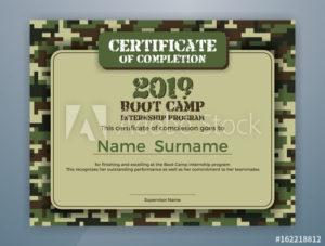 Boot Camp Internship Program Certificate Template Design pertaining to Boot Camp Certificate Template