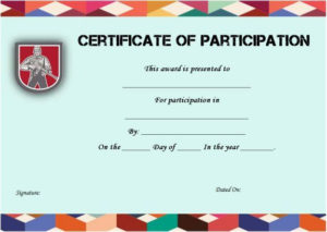 Boot Camp Participation Certificate | Certificate Templates inside Fresh Boot Camp Certificate Template