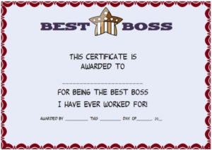 Boss Day Certificate Of Appreciation : 10+ Templates To inside Worlds Best Boss Certificate Templates Free