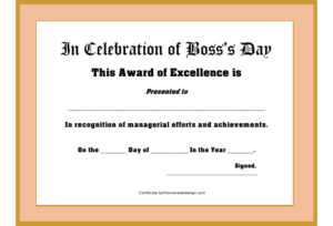 Boss'S Day Award Certificate Template Download Printable Pdf pertaining to Best Worlds Best Boss Certificate Templates Free