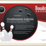 Bowling Certificate / Award Template Vector Stock Vector For Bowling Certificate Template