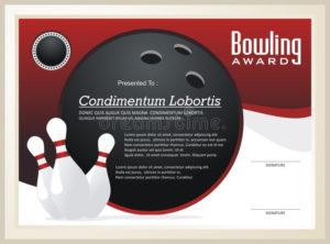 Bowling Certificate / Award Template Vector Stock Vector for Bowling Certificate Template