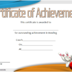 Bowling Certificate Of Achievement Free Printable 3 Pertaining To Best Bowling Certificate Template Free 8 Frenzy Designs