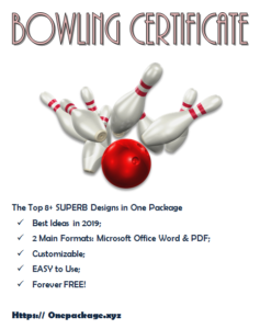 Bowling Certificate Template Free In One Package In 2020 for Bowling Certificate Template Free 8 Frenzy Designs