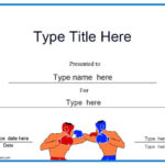 Boxing Certificates | Certificate Templates, Certificate With Regard To Unique Boxing Certificate Template