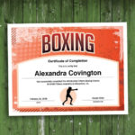 Boxing Customizable Certificate, Download Printable Fitness Template Intended For Unique Boxing Certificate Template