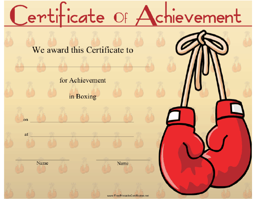 Boxing Printable Certificate within Unique Boxing Certificate Template