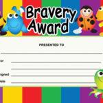 Bravery Award Certificates Children S Templates Pertaining To Fresh Bravery Award Certificate Templates