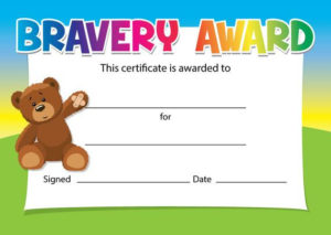 Bravery Award Certificates – Choice Of Designs – For Schools, Dentists,  Doctors, Nurses – Pack Of 16 throughout Bravery Award Certificate Templates