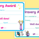 Bravery Certificate (Teacher Made) With Fresh Bravery Award Certificate Templates