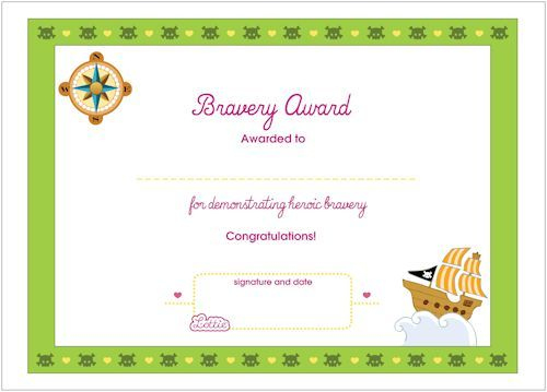 Bravery Printable Award Certificate | Printable Activities with regard to Bravery Certificate Template 10 Funny Ideas