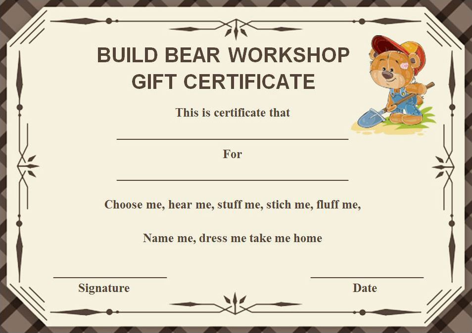 Build A Bear Certificate: 13 Best And Attractive Templates within Gartner Certificate Templates