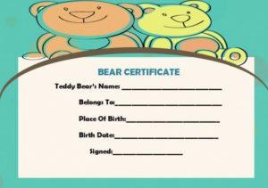 Build A Bear Certificate | Birth Certificate Template with regard to Build A Bear Birth Certificate Template