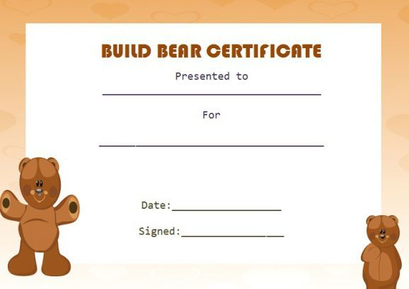 Build Bear Template | Birth Certificate Template regarding New Amazing Teddy Bear Birth Certificate Templates Free