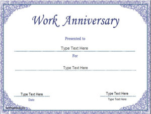 Business Certificate – Work Anniversary Certificate Template pertaining to Best Employee Anniversary Certificate Template