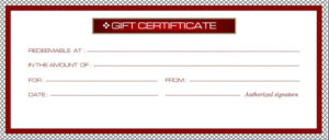 Business Gift Certificate Template | Free Sample Templates within Best Company Gift Certificate Template
