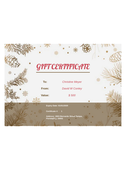 Business Gift Certificate Template - Pdf Templates | Jotform for Best Company Gift Certificate Template