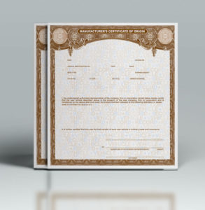 Buy Manufacturer Certificate Of Origin'S • Mco/Mso Paper pertaining to Best Certificate Of Origin For A Vehicle Template