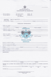 Calculate Your Certified And Or Notarized Translation pertaining to Marriage Certificate Translation From Spanish To English Template