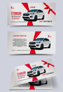 Car Showroom – Premium Gift Certificate Psd Template intended for Automotive Gift Certificate Template
