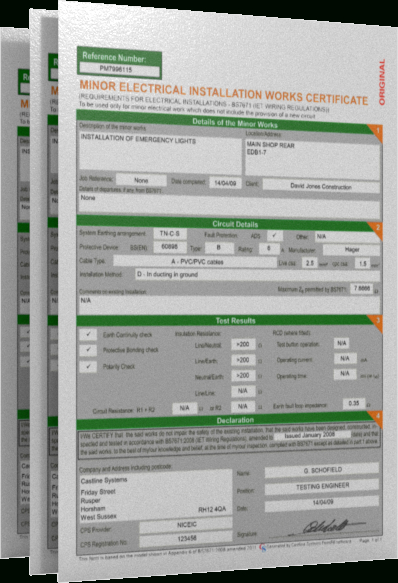 Castline Systems - Official Home Page throughout Electrical Minor Works Certificate Template