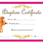 Cat Adoption Certificate Template Free 6 | Birth Certificate Inside Unique Cat Adoption Certificate Templates