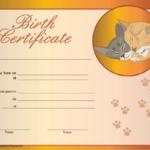Cat Birth Certificate Printable Certificate | Birth for Quality Cat Birth Certificate Free Printable