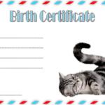 Cat Birth Certificate Template Free 2   Cat Birth, Birth In Quality Cat Birth Certificate Free Printable