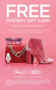 Century 21 Gift Card—Up To $500 Free! in Restaurant Gift Certificates New York City Free