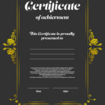 Certificate Appearance Template Royalty Free Vector Image Intended For New Certificate Of Appearance Template
