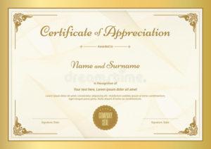 Certificate Appreciation Stock Illustrations – 8,392 pertaining to Fresh Certificate Of Appreciation Template Doc