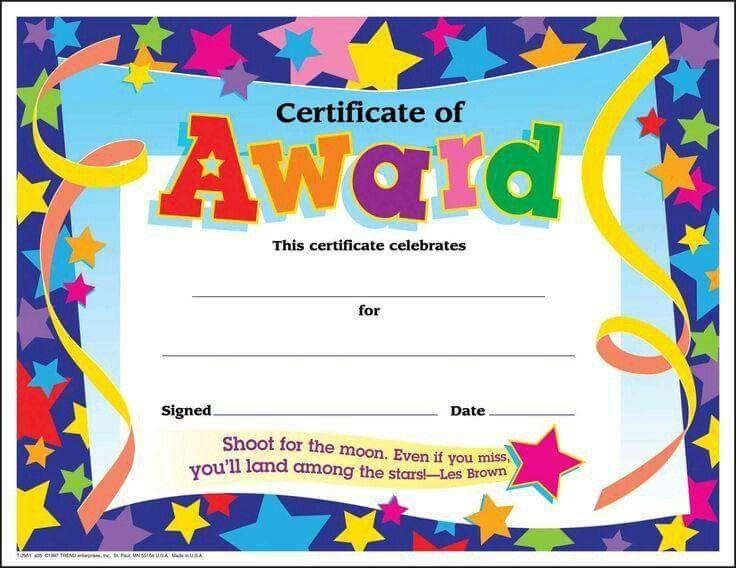 Certificate | Certificate Of Achievement Template, Free within Free Printable Certificate Templates For Kids